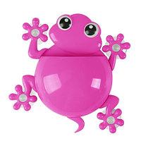 Держатель для зубных щёток и пасты «Весёлые зверушки» (Розовый / Лягушка)