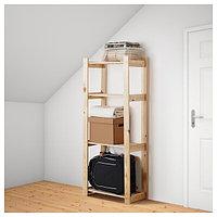 Стеллаж АЛЬБЕРТ хвойное дерево 64x28x159 см ИКЕА, IKEA