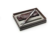 Набор из одной ручки и чехла (имитация крокодиловой кожи/ метал)