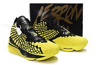 "Игровые кроссовки Nike LeBron XVII (17) ""Black/Yellow"" (40-46), фото 6"