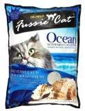 Fussie Cat 10 л (8,1кг) Морской комкующийся наполнитель для кошачьих туалетов