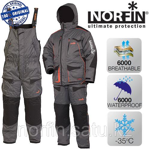Костюм для зимней рыбалки Norfin DISCOVERY GRAY р.XL (54-56)  темп.-35С