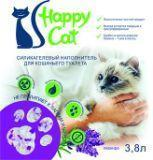 Happy Cat 2.2л (1кг) Лаванда Силикагелевый наполнитель для кошачьего туалета