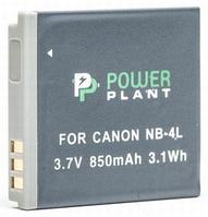 Аккумулятор PowerPlant Canon NB-4L 850mAh