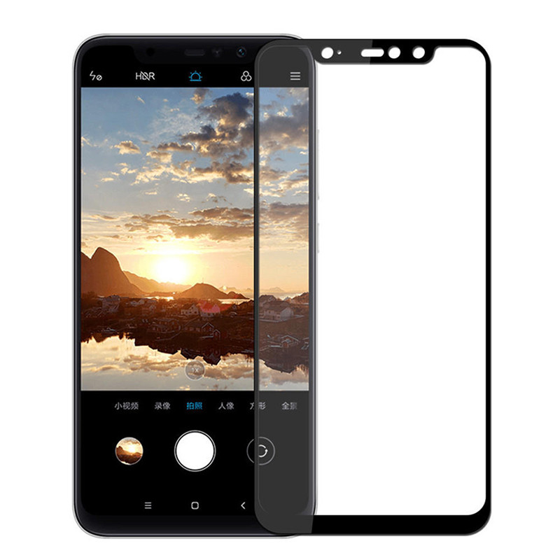 Защитное стекло Full screen PowerPlant для Xiaomi Redmi Note 6 Pro, Black