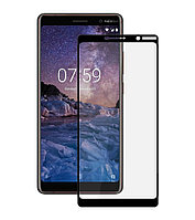 Защитное стекло Full screen PowerPlant для Nokia 7 Plus, Black