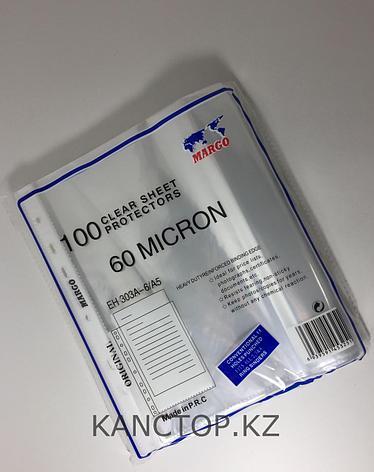 Файл - вкладыш А4 MARGO 60 мкр прозрачный, фото 2