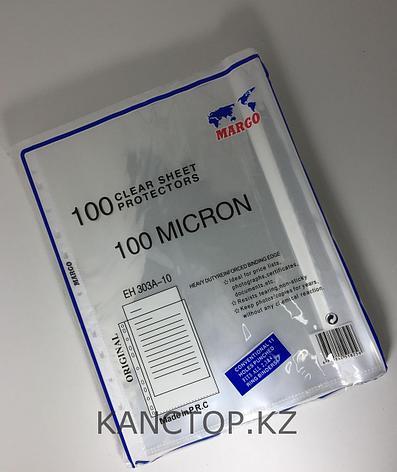 Файл - вкладыш А4 MARGO 100 мкр прозрачный, фото 2