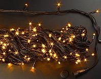 """Гирлянда новогодняя светодиодная """"Нить"""" - 10 метров, 80 лампочек, тёплый свет, светит постоянно"""