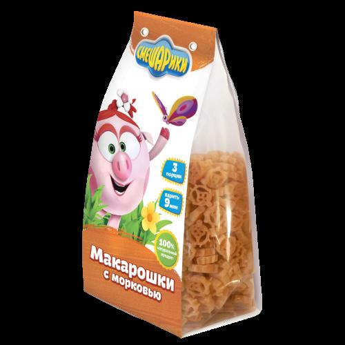 """Детские макарошки """"СМЕШАРИКИ"""" с морковью"""
