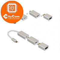 Адаптер (переходник) USB type-C To Mini Displayport to VGA to HDMI cascade Adapter. Конвертер.