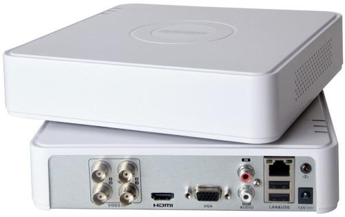 DS-H104UA - 4-х канальный Turbo HD5.0-TVI/CVI/AHD/CVBS гибридный видеорегистратор с разрешением 5MP на канал + 2 IP-канала с разрешением до 8MP и подд