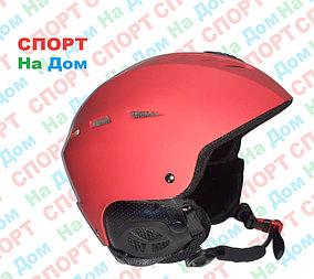 Взрослый лыжный шлем (цвет красный)
