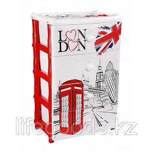 """Комод широкий """"Лондон"""" 4-х секционный пластиковый, М2263, фото 2"""