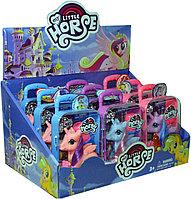 Незначительная трещина на упаковке!!! SM90086 MY LITTLE HORSE пони в чемодане на колесах  21*11см