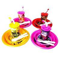 Набор пластиковой посуды и приборов для ребенка {7 предметов} (Миньоны)