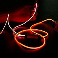 Наушники светящиеся вакуумные металлические Glowing Earphone (Оранжевый)
