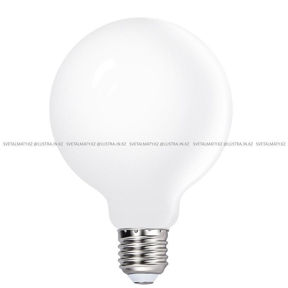 Декоративная круглая лампочка стеклянная белая