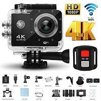 Экшен-камера H16-6R {4K UltraHD, Wi-Fi, оптическая стабилизация} с пультом-браслетом и набором аксессуаров