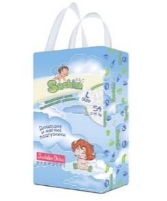 Sachiko подгузники упаковка L size (54шт)