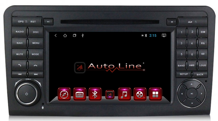 ANDROID 8.1.0 Mercedes Ml 164, Gl X164 2005-2012г. 100 HD ЭКРАН 1024-600 ПРОЦЕССОР 4 ЯДРА (QUAD CORE), фото 2