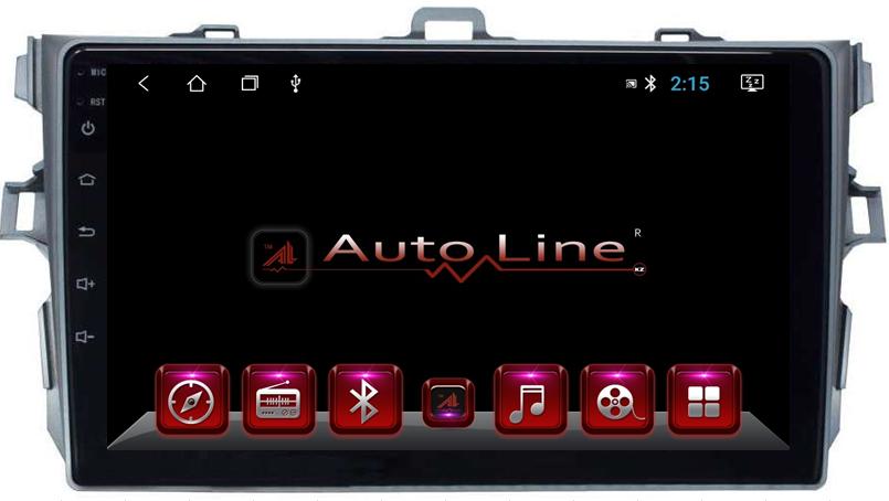 Автомагнитола AutoLine Toyota Corolla 2007-2013 HD ЭКРАН 1024-600 ПРОЦЕССОР 4 ЯДРА (QUAD CORE)
