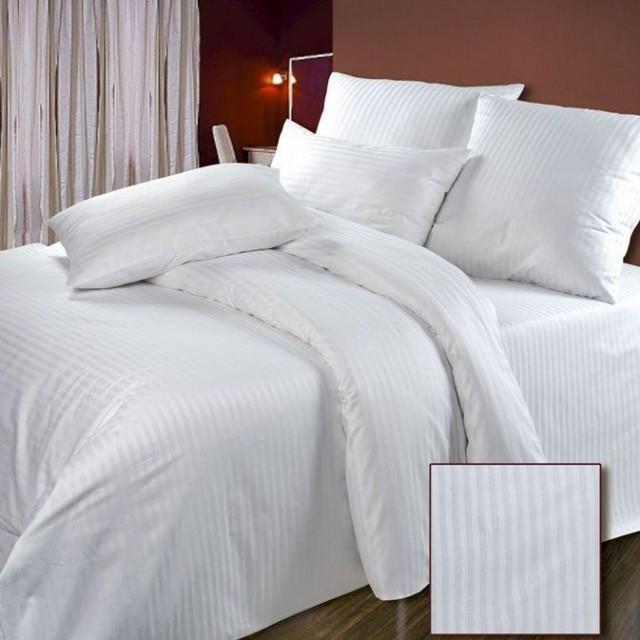 Простынь страйп-сатин 2х спальная Премиум 180x270 см