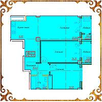 Двухкомнатная квартира 70,6 кв.м в жк Оазис
