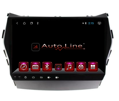 Автомагнитола AutoLine Hyundai Santa Fe 2013-2017г  8 ЯДЕР (ULTRA CORE), фото 2