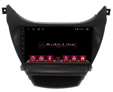 Автомагнитола AutoLine Hyundai Elantra 2013-2015 4-ядерный (QUAD CORE), фото 2