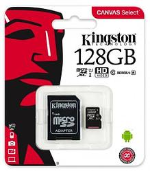 Карта памяти MicroSD 128GB Class 10 U1 Kingston SDCS/128GB