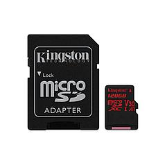 Карта памяти MicroSD 128GB Class 10 U3 A1 Kingston SDCR/128GB