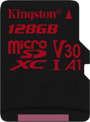 Карта памяти MicroSD 128GB Class 10 U3 A1 Kingston SDCR/128GBSP, фото 2