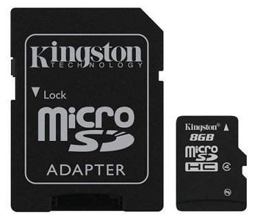 Карта памяти MicroSD 8GB Class 4 Kingston SDC4/8GB, фото 2