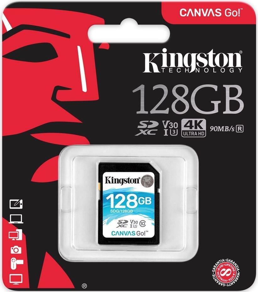 Карта памяти SD 128GB Class 10 U3 Kingston SDG/128GB