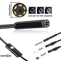 USB эндоскоп для смартфонов планшетов и PC водонепроницаемая камера 5.5 мм