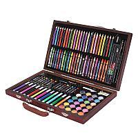 Набор для рисования в деревянном кейсе, 120 предметов