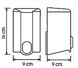 Дозатор (диспенсер) Vialli для жидкого мыла 500 мл.Белый цвет. Мыльница., фото 3