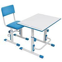 Детская растущая парта и стул Polini Simple белый-синий