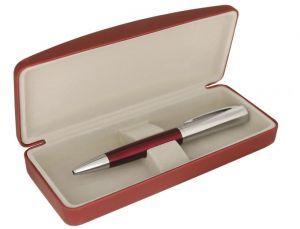 Ручка металлическая в футляре,красная