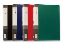 Папка с 10 файлами, чёрная, А4, пластик, 0.45мм, фото 2