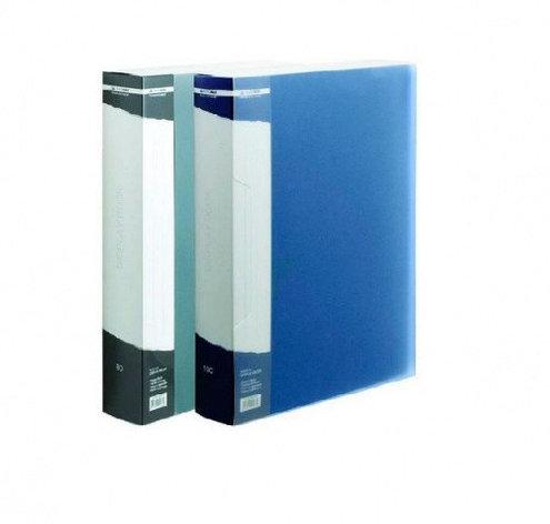 Папка с 100 файлами, синяя, А4, пластик, 1.05мм, фото 2