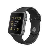 Apple Watch Sport 38mm Space Grey Aluminum Case with Black Sport Band