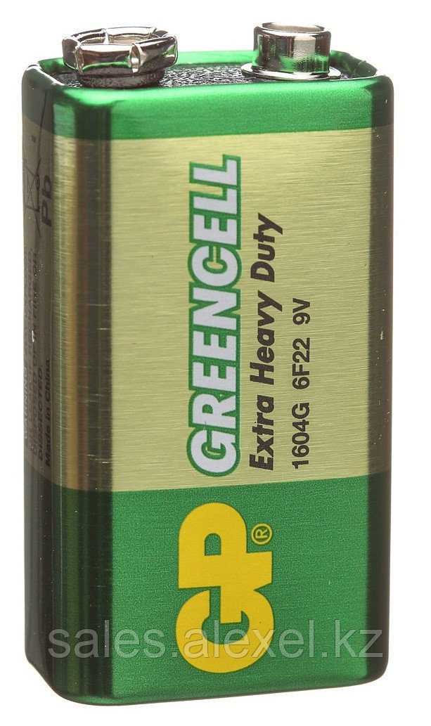Батарейка GP 1604G Greencell 6F22 Крона 9v  - Alexel в Алматы