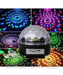 "Диско-шар с mp3 ""Led Magic Ball Light"" 6 цветов"