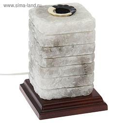 "Соляная лампа ""Зебра арома"" цельный кристалл, 14 см × 14 см × 17,5 см, 2-3 кг"