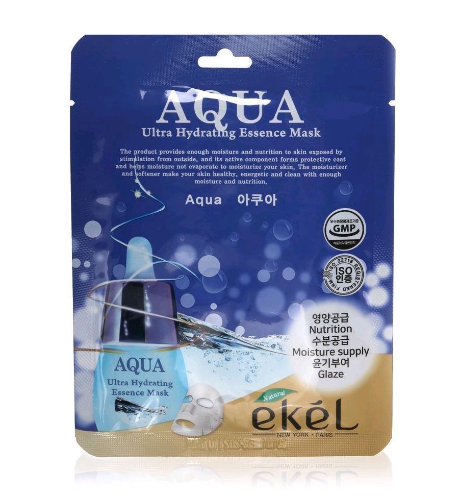Ekel Aqua Ultra Hydrating Essence Mask Тканевая Маска с Гидрализованным Коллагеном