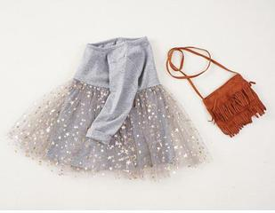 Платье нарядное, цвет серый