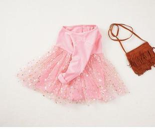 Платье нарядное, цвет розовый