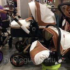 Детская коляска-трансформер Belecoo X6 Экокожа 3в1